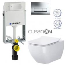 GEBERIT - SET GEBERIT - KOMBIFIXBasic včetně ovládacího tlačítka DELTA 51 CR pro závěsné WC OPOCZNO METROPOLITAN CLEAN ON + SEDÁTKO (110.100.00.1 51CR ME1)