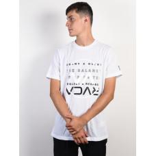 RVCA BRAND OVER BALANCE white pánské tričko s krátkým rukávem - M