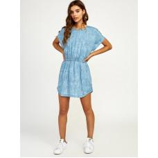 RVCA NOTHING LEFT CHAMBRAY společenské šaty krátké - S