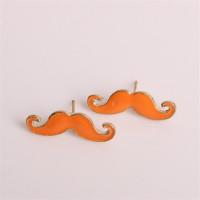 Náušnice Movember - 3 barvy Barva: Oranžový