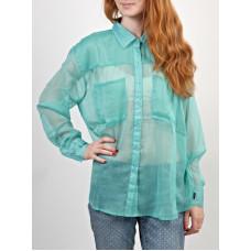 RVCA ANI SEA BLUE dámská košile dlouhý rukáv - M