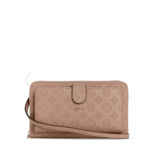 GUESS kabelka Peony Classic Travel Wallet latte vel.