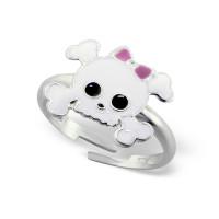 OLIVIE Dětský stříbrný prstýnek LEBKA 0543