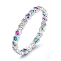 OLIVIE Stříbrný prstýnek COLORS 5021 Velikost prstenů: 7 (EU: 54-56)