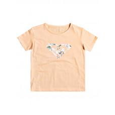 Roxy DAY AND NIGHT PRINT APRICOT ICE dětské tričko s krátkým rukávem - 14/XL