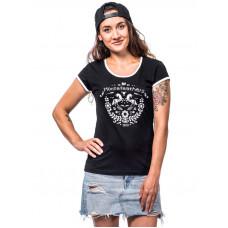 Horsefeathers AREA black dámské tričko s krátkým rukávem - L