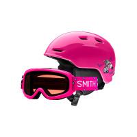 Smith ZOOM JR/GAMBLER Pink Skates / RC36 přilba na snowboard - 53-58