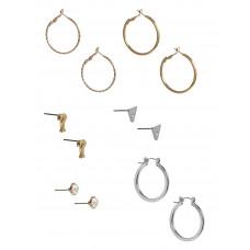 GUESS náušnice Multi-tone Stud And Hoop Earrings Set vel. P2639329377A