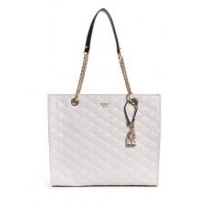 GUESS kabelka Penelope Quilted Shopper Tote svetlošedá vel.