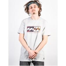 Billabong INVERSED LT GREY HEATHER pánské tričko s krátkým rukávem - XL