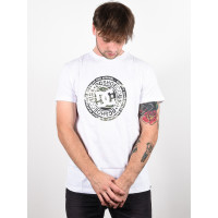 Dc CIRCLE STAR 3 SNOW WHITE/CAMO pánské tričko s krátkým rukávem - M