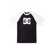 Dc STAR black/white pánské tričko s krátkým rukávem - XL