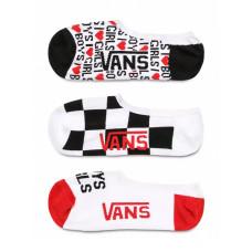 Vans BOYS GIRLS CANOODLES MULTI dámské kotníkové ponožky - 7-10