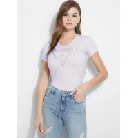 GUESS tričko Short-sleeve Peace Logo Tee lilac vel. S