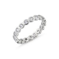 OLIVIE Stříbrný prsten se zirkony 2129 Velikost prstenů: 7 (EU: 54 - 56)