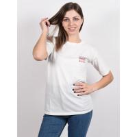 Billabong THEY ARE COMING SALT CRYSTAL dámské tričko s krátkým rukávem - L