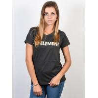 Element ELEMENT LOGO OFF BLACK dámské tričko s krátkým rukávem - S
