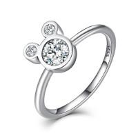 OLIVIE Stříbrný prsten MOUSE 3241 Velikost prstenů: 7 (EU: 54 - 56)