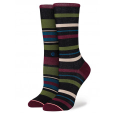 Stance LATITUDE CREW black moderní barevné dámské ponožky - S