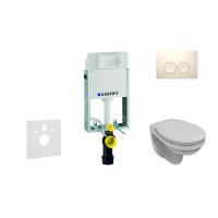 Geberit Sada pro závěsné WC + klozet a sedátko Ideal Standard Quarzo - sada s tlačítkem Delta21, bílé 110.100.00.1 NR1