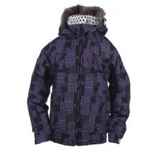 Ride MALIBU ins. 9971 BLACK DOT PRINT dětská zimní bunda - M