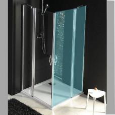 GELCO - ONE sprchové dveře s pevnou částí 800 mm, čiré sklo (GO4880)