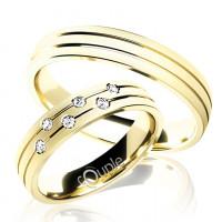 Zlato Snubní prsten Couple Myrtos ze žlutého zlata