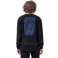 Horsefeathers FINGERPRINT MAX black pánské tričko s dlouhým rukávem - M