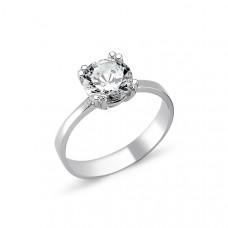 OLIVIE Stříbrný solitérní prsten se zirkonem 1263 Velikost prstenů: 7 (EU: 54 - 56)