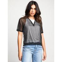 RVCA SKY black dámské tričko s krátkým rukávem - S