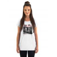 Horsefeathers RENATA white dámské tričko s krátkým rukávem - L