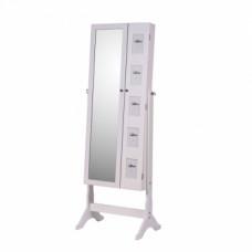 Zrcadlo s úložným prostorem CANINI bílá - TempoKondela