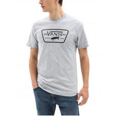 Vans FULL PATCH Athletic Heather/Black pánské tričko s krátkým rukávem - M