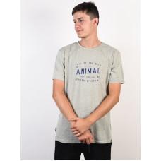 Animal CALL Grey Marl pánské tričko s krátkým rukávem - XL