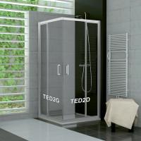 SanSwiss TED2G 0900 01 07 Levý díl sprchového koutu 90 cm, matný elox/sklo