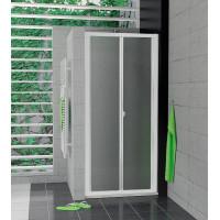 SanSwiss TOPK 0900 04 22 Zalamovací dveře 90 cm, bílá/durlux