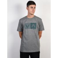 RVCA LOGO PACK ATHLETIC HEATHER pánské tričko s krátkým rukávem - L