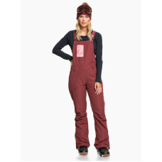 Roxy RIDEOUT BIB OXBLOOD RED zateplené kalhoty dámské - L