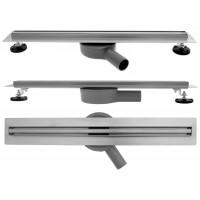 REA - Lineární odtokový žlab + sifon + nožičky + rošt Neo 800 Slim Pro (REA-G8402)