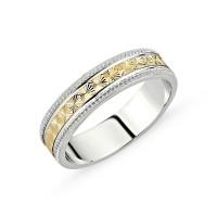 OLIVIE Stříbrný snubní prsten 2131 Velikost prstenů: 7 (EU: 54 - 56)