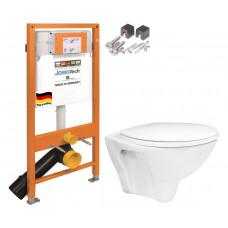 JOMO - JOMO Duofix modul pro závěsné WC + montážní sada + sedátko + WC CERSANIT ARES (174-91100700-00 AR1)