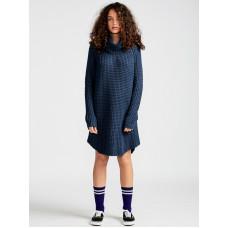 Element ELEVENTH indigo společenské šaty krátké - M