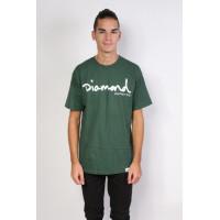 Diamond Supply Co OG SCRIPT forest pánské tričko s krátkým rukávem - S