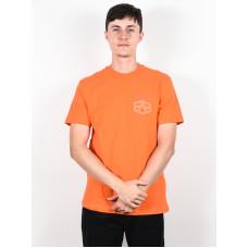 RVCA REYNOLDS Bright Orange pánské tričko s krátkým rukávem - M