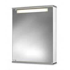 Jokey Plastik CENTO 50 LS Zrcadlová skříňka - bílá/hliníková barva, š. 50 cm, v. 65 cm, hl. 14 cm 114311020-0140