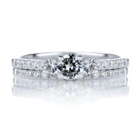 OLIVIE Dva stříbrné prstýnky 4114 Velikost prstenů: 5 (EU: 47 - 50)