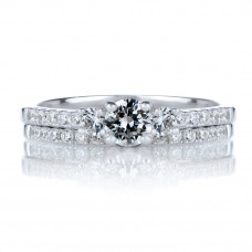 OLIVIE Dva stříbrné prstýnky 4114 Velikost prstenů: 6 (EU: 51 - 53)