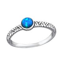 OLIVIE Stříbrný prsten OPÁL 3991 Velikost prstenů: 8 (EU: 57 - 58)