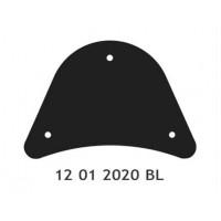 Černý kryt pro opěrky Mondial - Motofanda 5780