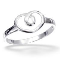 OLIVIE Stříbrný prsten SRDÍČKO 1206 Velikost prstenů: 5 (EU: 47 - 50)